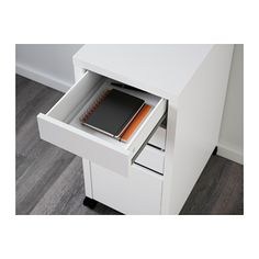 MICKE Drawer unit/drop file storage - white - IKEA
