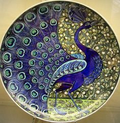 Peacock plate; c. 1888-1898; Birmingham Museum; photo by Kotomicreations
