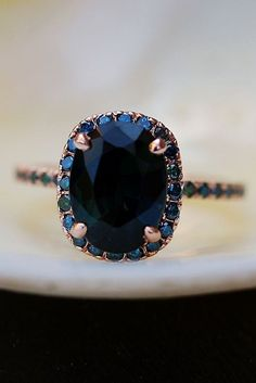 Eidel Precious Sapphire Engagement Rings ❤️ Eidel Precious engagement rings vintage oval cut sapphire gold ❤️ See more: http://www.weddingforward.com/eidel-precious-engagement-rings/ #weddingforward #wedding #bride