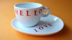 SALE  Hand Painted Espresso Cup