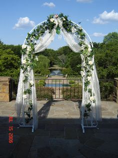 Perfectmaze 55\'\'W X 90\'\'H White Metal Arch for Wedding Decoration ...