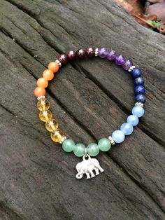 Seven Chakra Bracelet - could easily be made yourself instead of purchasing it.