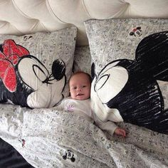 Mickey & Minnie bed sheets, wonder if they come in king size??