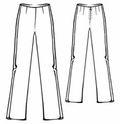 """Modern Sewing Patterns (free!) - #5326 """"Tuxedo"""" Pants with side stripes"""