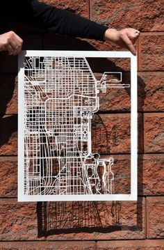 Going to make this! Chicago map cut out