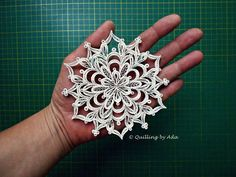 Quilling-Snowflake ornament