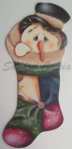 cuadros de muñecos de nieve pintados en acrilico - Buscar con Google
