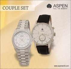 Good times or bad, you know you will have your partner through it all! An Aspen watch, a perfect symbol of bond.