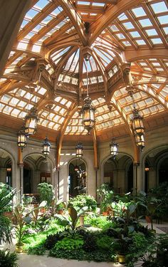 The beautiful conservatory at The Biltmore Estate in Asheville, NC.