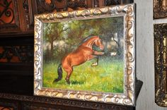 """""""Kicking Horse oil on canvas mounted on Board"""" by fritz bachmeyr 