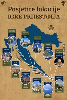 Locations of the Game of Thrones filming, Croatia