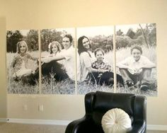 family of 6 photo. I LOVE how they printed and displayed this!