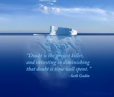 The challenge of doubt isn't something you face just once or twice; it's a life long struggle. That's why Seth Godin's advice is invaluable. Writing Resources, Writing Tips, Positive Affirmations, Positive Quotes, Seth Godin, I Am A Writer, Confidence Boost, Writer's Block, Words Worth