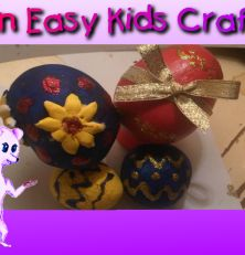 From toddlers to teenagers, anyone can make these awesome play dough Easter eggs for Easter decorations this Easter