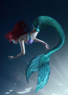 Ariel cosplay by ValeriyaDarkElf. on Ariel cosplay by ValeriyaDarkElf. Fantasy Mermaids, Real Mermaids, Disney Little Mermaids, Mermaids And Mermen, Ariel Mermaid, Mermaid Fairy, Ariel The Little Mermaid, Manga Mermaid, Mermaid Artwork