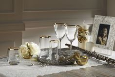 Gourmet Gold bardak takımı / glass set #bernardo #tabledesign