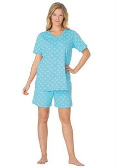 Plus Size Woman Within® 2pc Short Pajama Set