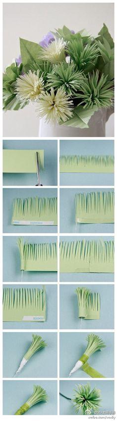 手工小花,...来自doraxiaoyi的图片分享-堆糖网 DIY Paper Flowers