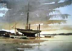 Edward Seago (1910 - 1974, UK) watercolour