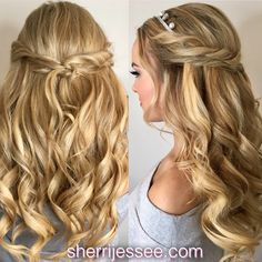 #promhair #prom #halfup #curls #braids #bohemian #musicfestival #beautifulhair www.sherrijessee.com #blonde Hair And Makeup Artist, Hair Makeup, Beautiful Inside And Out, Beauty Queens, Prom Hair, Blondes, Redheads, Homecoming, Curls