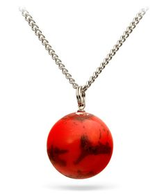 ThinkGeek :: Mars Planet Pendant