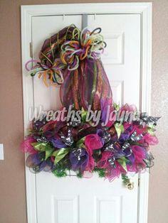 Halloween Wreath Witch Wreath Fall Wreath Door Wreath