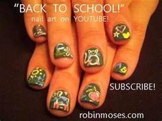 Nail Art Gallery - BACK TO SCHOOL chalkboard art for the fingernails!!