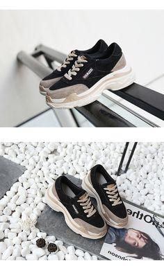 fd7101e993f1 35.66 |Tleni 2018 printemps nouvelle marque dame plate forme de course chaussure  femmes chaussure en cuir véritable fille Sneaker respirant à lacets ZK 33  ...