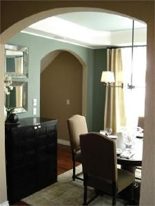Linen drapes - love the color of the walls but would go darker for the drapes for our dining room :-)