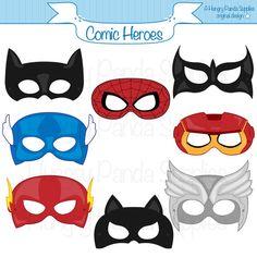 Comic Hero Masks comic book heroes comic by HappilyAfterDesigns
