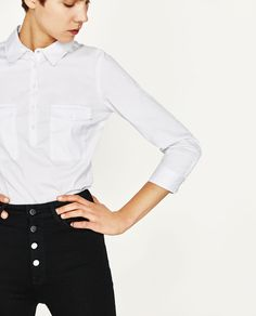 SHIRT WITH 3/4 SLEEVES-View All-TOPS-WOMAN | ZARA United States