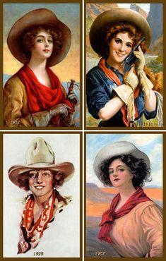Vintage Cowgirl Portraits http://www.pinterest.com/hopeisajourney/vintage-western-artillustrations/
