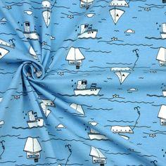 Stoffonkel Jersey (Bio) - Over the seas - blau (GOTS) Design von Herr Pfeffer