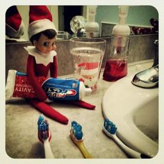 Brush brush brush... Fred believes in good oral hygiene to stay on the nice list. VOTE for your favorite photos in our Elf on the Shelf Photo Contest or submit your own elf photo for a chance to WIN Great Prizes at www.facebook.com/CoppinsHallmark Elf On The Self, The Elf, Elf Magic, Best Oral, Stuff To Do, Fun Stuff, Your Favorite, Nice List, Joy