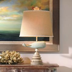 Blue Whale Table Lamp | Kirklands..how cute is this whale lamp
