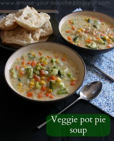 Food Soups on Pinterest | Soups, Veggie Pot Pies and Shrimp Chowder