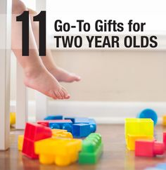 "11 super engaging toys that are my ""go-to"" gifts for two year olds come Christmas time or birthdays."