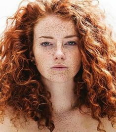 Fuzzy haired redhead