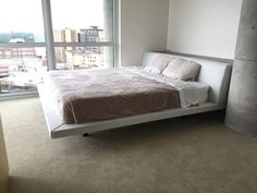 modloft chelsea bed + thompson nightstands, contemporary southern