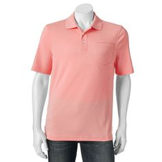 Men's Croft & Barrow® Signature Pocket Polo, Size: XXL, Lt Orange