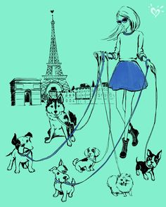Two of our favorite things? Pups and Paris!