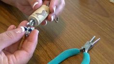 In this video I'll show you how to make a quick and easy upcycled wine cork keychain with a beaded charm.