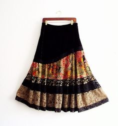 Black Friday Sale 20% off Gypsy Velvet and Lace Maxi by KheGreen