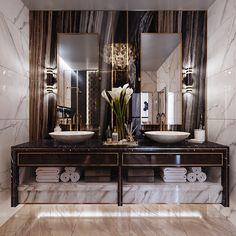 Enhance Your Senses With Luxury Home Decor Bathroom Design Luxury, Luxury Interior Design, Apartment Interior Design, Bedroom Apartment, Luxury Apartments, Luxury Homes, Luxury Home Decor, House Design, Behance