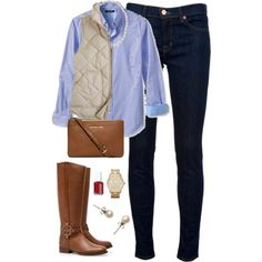 """""""Fall Outfit"""" by classically-preppy on Polyvore"""