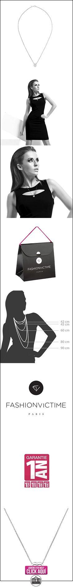 """Fashionvictime - Mujer Collar - """"Cœur"""" - Argento Rodiado - Circonita - Joyeria Sin Tiempo -  ✿ Joyas para mujer - Las mejores ofertas ✿ ▬► Ver oferta: https://comprar.io/goto/B017MZRERM"""