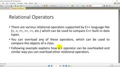 11-Operator Overloading in c++ Object Oriented Programming, Being Used, Language, Learning, Studying, Languages, Teaching, Language Arts, Onderwijs
