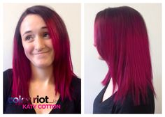 Joico intensity magenta baylage Joico Color, Baylage, Hair Affair, Magenta, Hair Makeup, Nail Designs, Hair Color, Long Hair Styles, Cotton