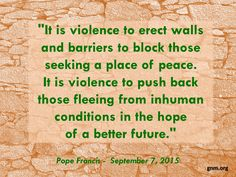 """Peace is always possible."" Read more at: http://www.zenit.org/en/articles/pope-s-message-to-international-meeting-for-peace-xxviii"