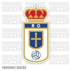 Real Oviedo Spain Vinyl Sticker Decal Pegatina Real Oviedo, Oviedo Spain, Adhesive Vinyl, Decals, Stickers, Garra, Color Print, Soccer, Design